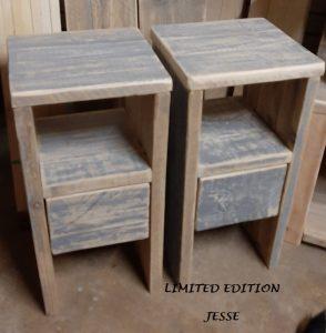 Brocante nachtkastjes steigerhout old sloophout